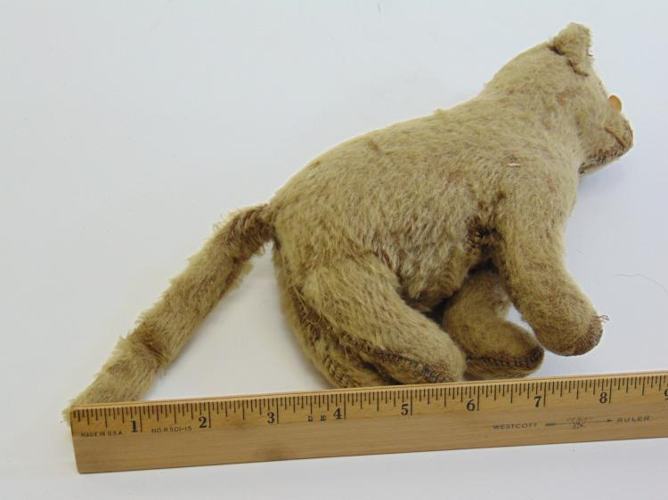 Lot 60: Antique Hand Made Stuffed Cat Toy