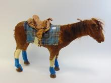 Lot 61: Antique Detailed Hand Made Horse Toy