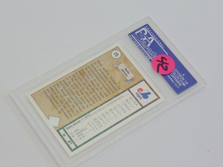 Lot 66: PSA Graded EX-MT 6 1989 Upper Deck Randy Johnson Star Rookie Card