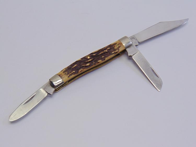 Schrade Uncle Henry 885UH 3 Blade Folding Pocket Knife