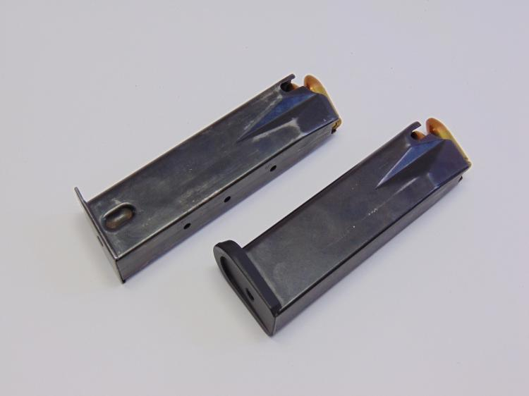 Lot of 2 9mm Luger Clips and Bullets