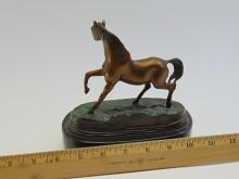 Lot 120: Piere Jules Mene Stallion Bronze Horse Sculpture on Marble Base