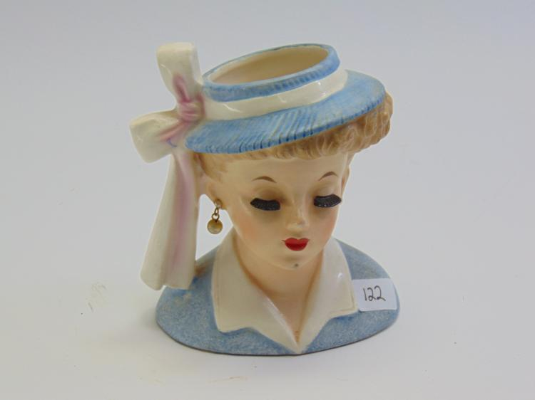 1958 Napco Lady Head Vase