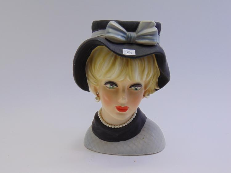Tall Vintage Napco Ware Lady Head Vase