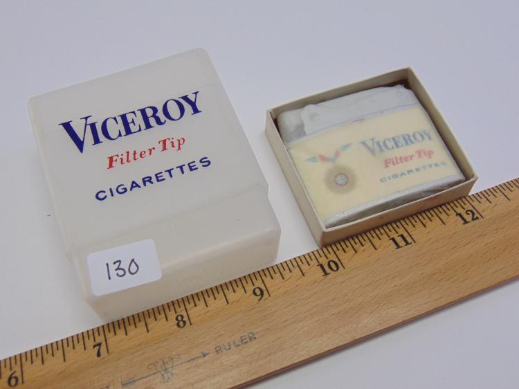Lot 130: Vintage Promotional Viceroy Cigarettes Lighter and Pack Holder