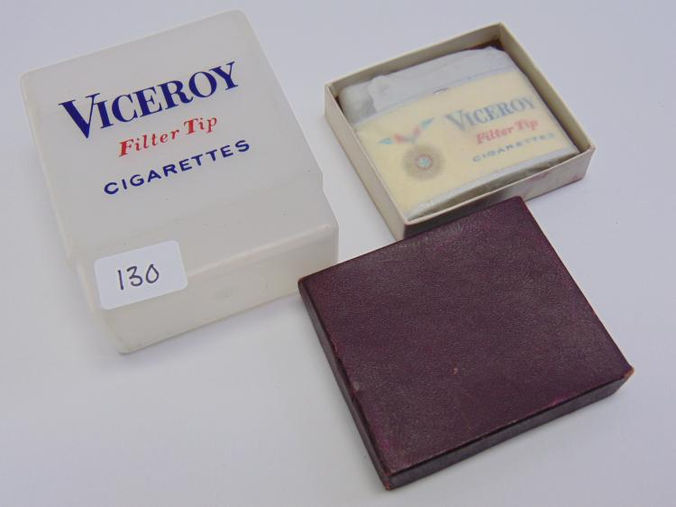 Vintage Promotional Viceroy Cigarettes Lighter and Pack Holder
