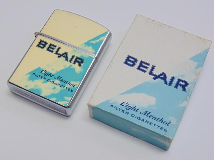 Vintage New in Box Promotional Adveritsing Cobid Bel Air Cigarette Lighter