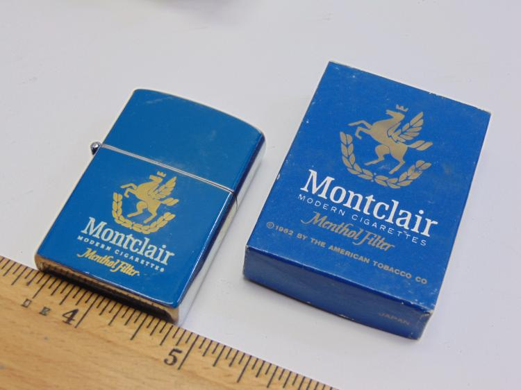 Lot 139: Vintage Advertising Continental Montclair Cigarette Lighter New in Box