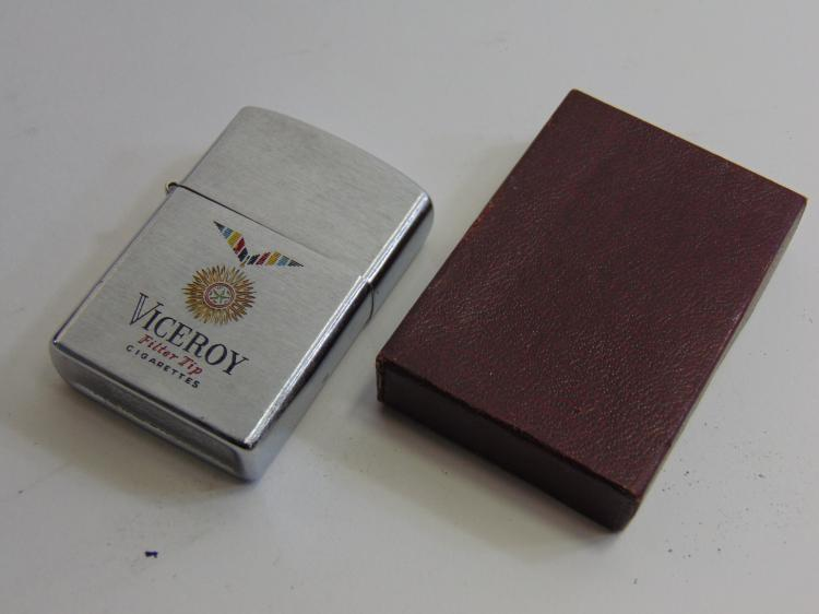Lot 141: Vintage Advertising Viceroy Cigarettes Penguin Lighter New in Box