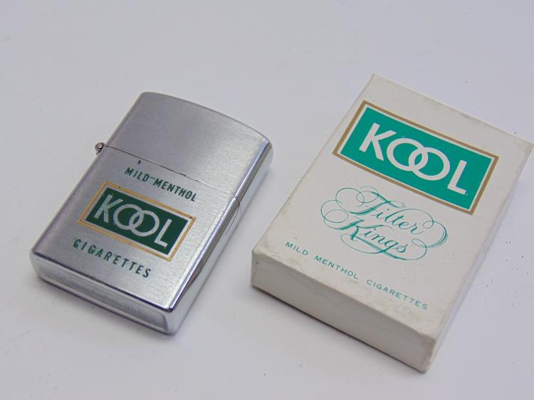 Vintage New in Box Promotional Adveritsing Cobid Kool Cigarette Lighter