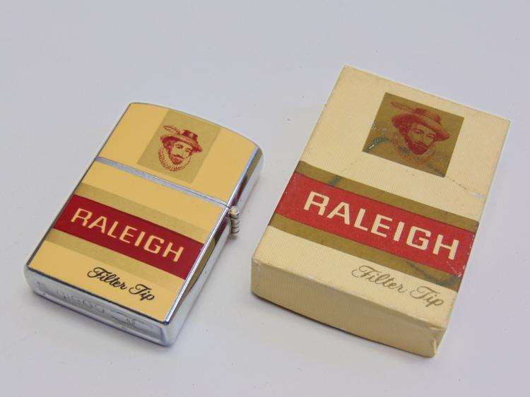 Vintage New in Box Promotional Adveritsing Cobid Raleigh Cigarette Lighter