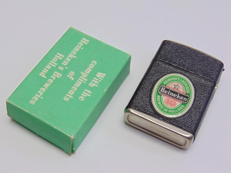 Vintage Advertising Heineken Lighter New in Box