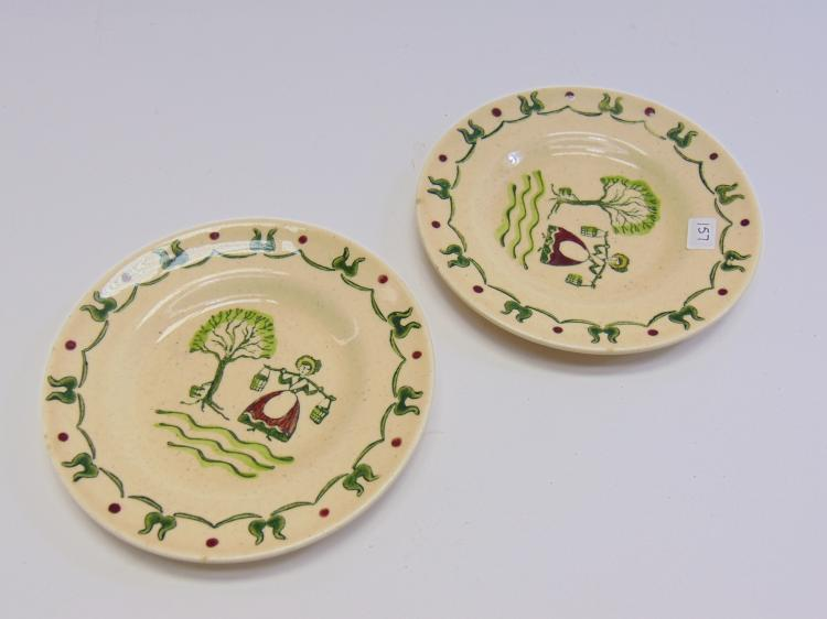 Lot of 2 Metlox Poppy Trail Saucers