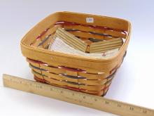 Lot 159: Hand Woven Longaberger Collectible Basket