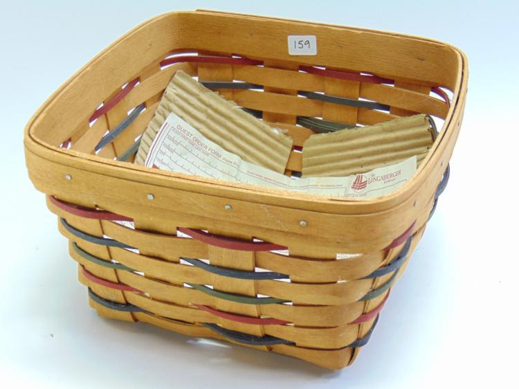 Hand Woven Longaberger Collectible Basket