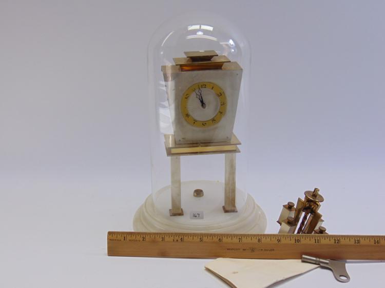 Lot 167: Vintage Kieninger German Marble Base Anniversary Clock