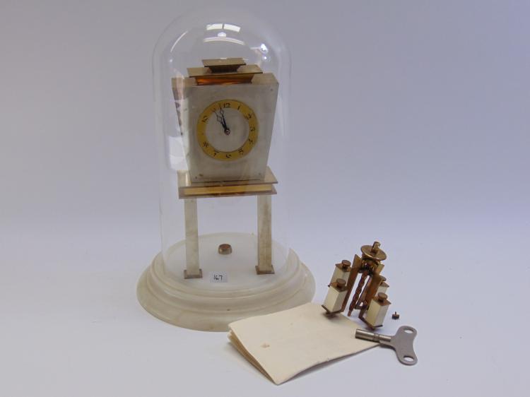 Vintage Kieninger German Marble Base Anniversary Clock