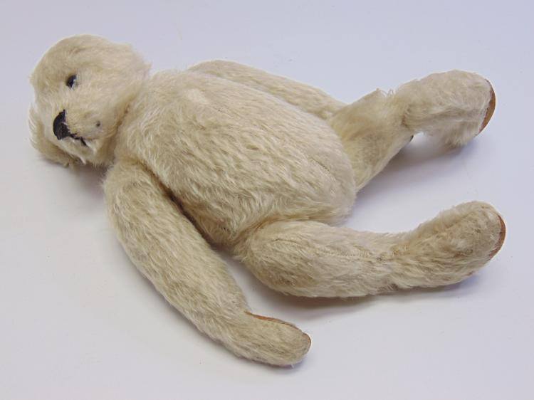 Lot 181: Vintage Steiff? Stuffed Mohair Teddy Bear