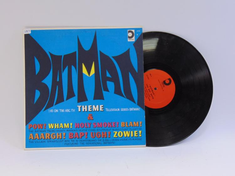 Vintage Batman Theme Song Vinyl Record