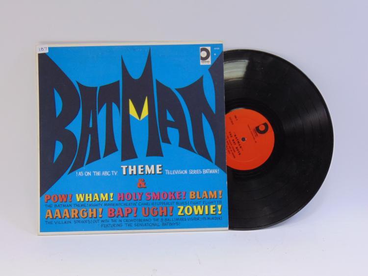 Lot 187: Vintage Batman Theme Song Vinyl Record