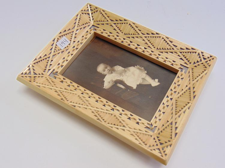 Vintage Tramp Art Photo Frame