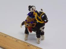 Lot 200: Vintage Native American Riding Horse Sead Bead Figure
