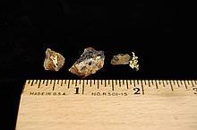 3 Small Load Gold Quartz & Gold AZ Specimans