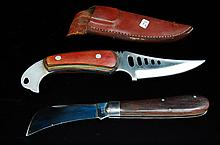 Lot of 2 Vintage Knives Fixed & Folding Blade