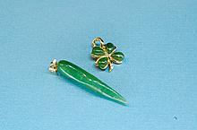 Vintage Jade Sterling & Costume Jewelry Pendants
