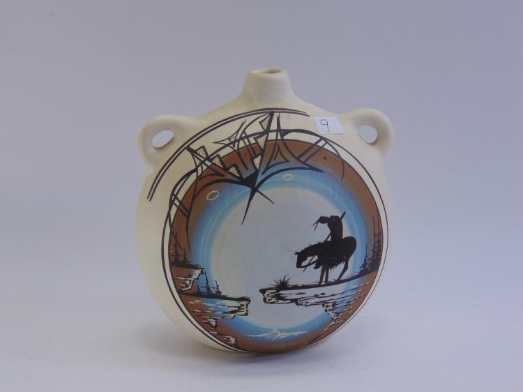 Signed End Of Trail Navajo Ceramic Pottery