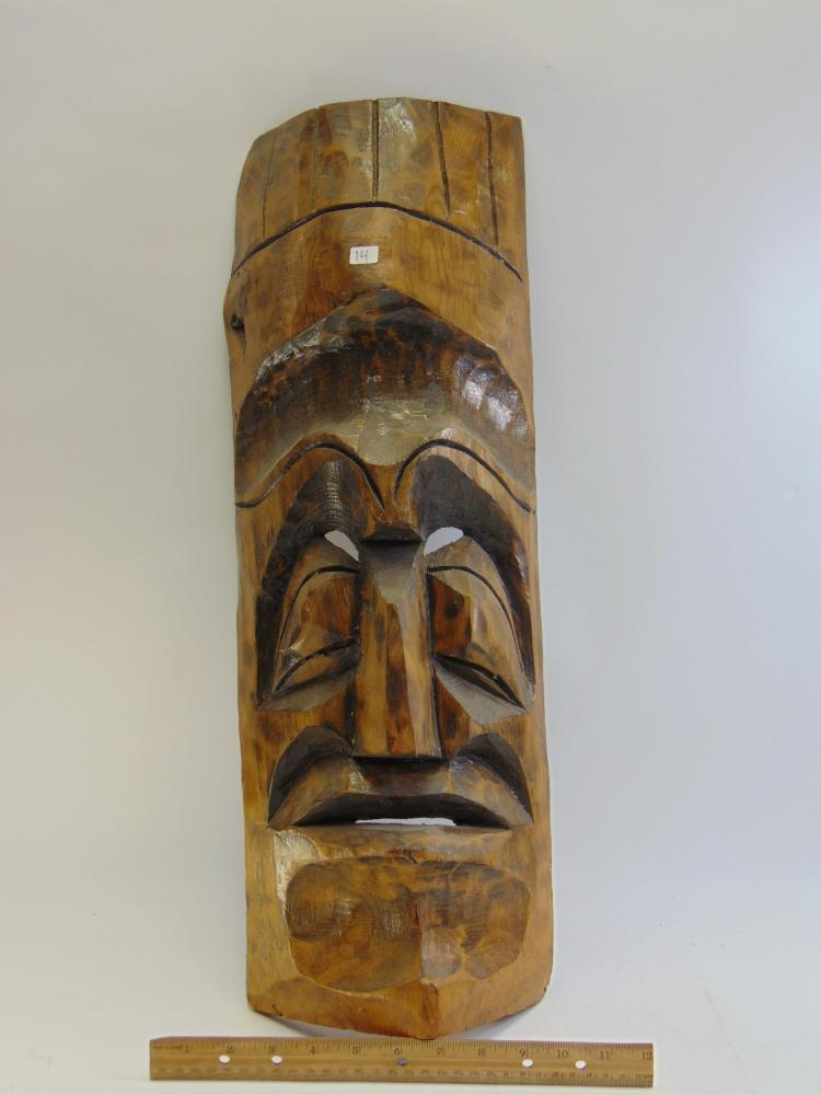 Lot 14: Large Carved Wood Tribal Mask