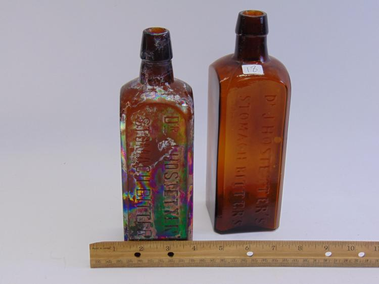 Lot 18: 2 Dug Up Dr. J. Hostetters Stomach Bitters Bottles