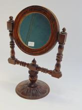Lot 22: Vintage Carved Wood Vanity Mirror
