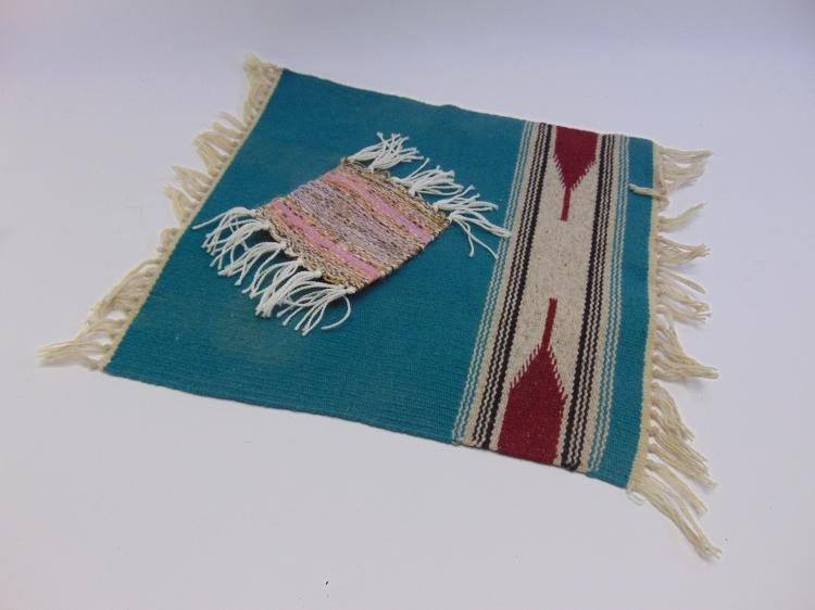 Native American Woven Rug And Mexican Rug