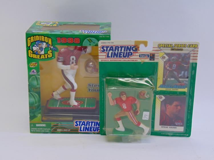 2 Steve Young Figurines
