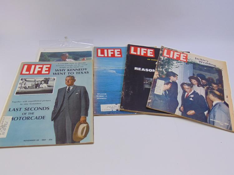 4 Life Magazines And Photo Of Ronald Reagan