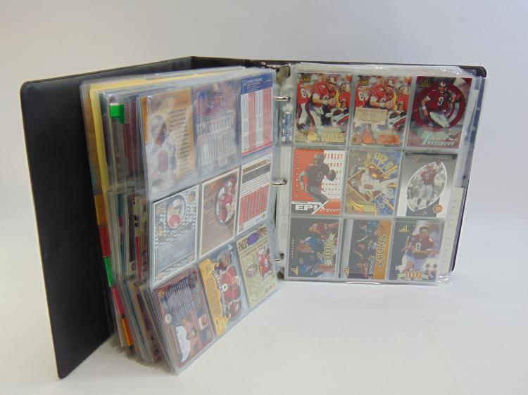 Approx. 60+ Pages Of Steve Young Sports Cards in a Binder