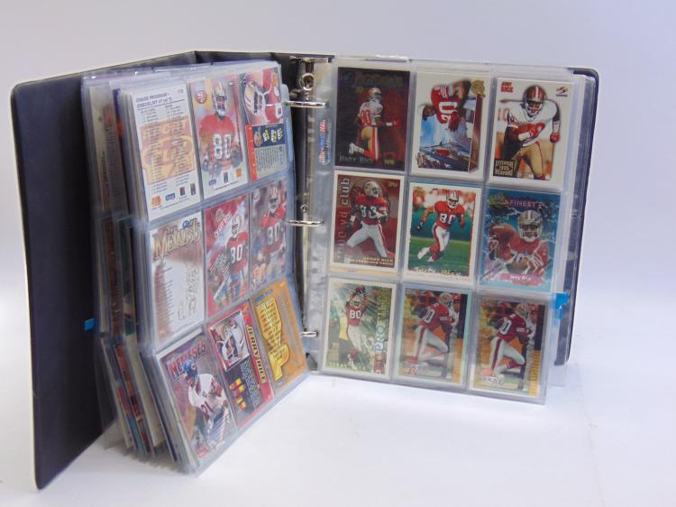 Approx. 60+ Pages Of Jerry Rice Sports Cards in a Binder