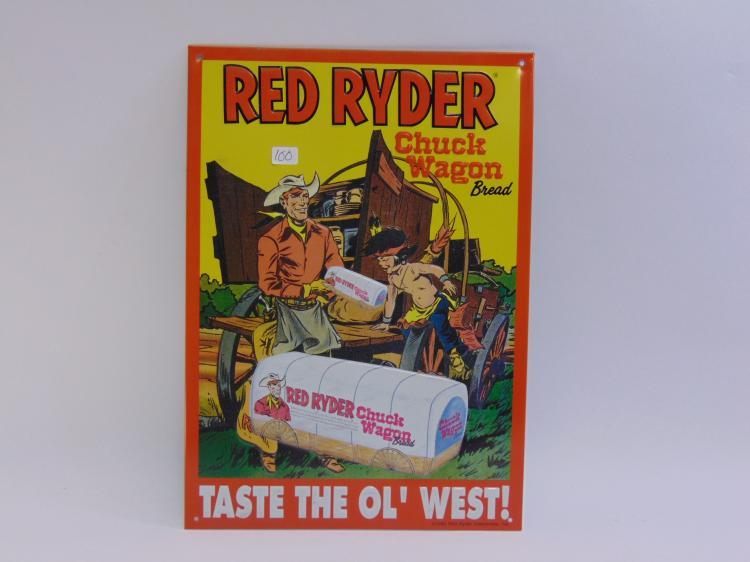Red Ryder Chuck Wagon Bread Tin Sign