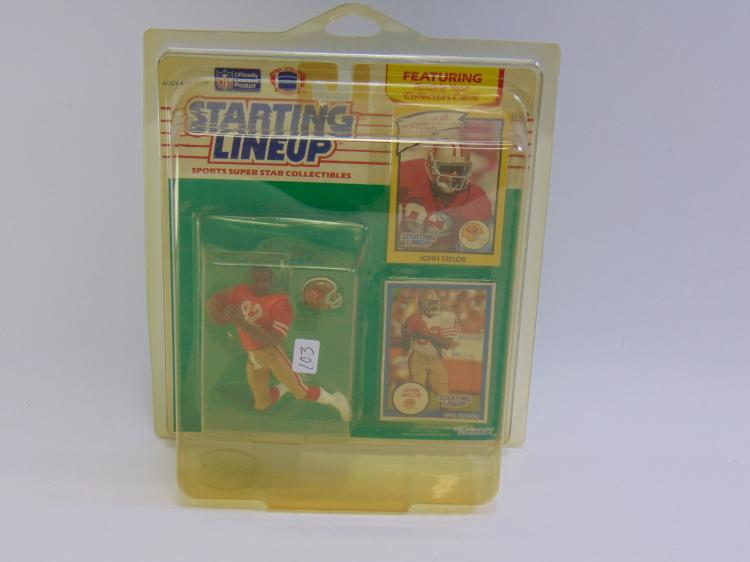 Starting Lineup John Taylor Figurine New in Box, with rookie card