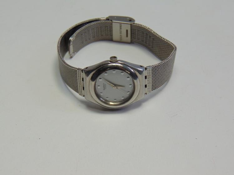 Vintage Swatch Stainless Steel Mesh Band Watch