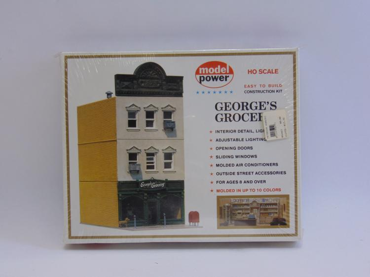 Vintage Model Power HO Scale George's Grocery Model Train Building