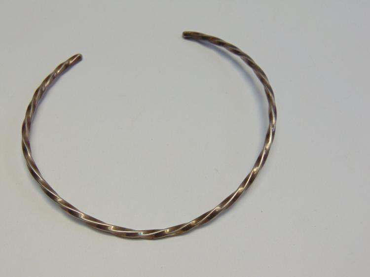 Sterling Silver Braided Band Choker Necklace 37g