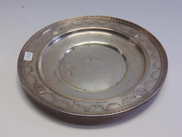 Vintage Sterling Silver Plate DH with Diamond & Circle Marking 273g