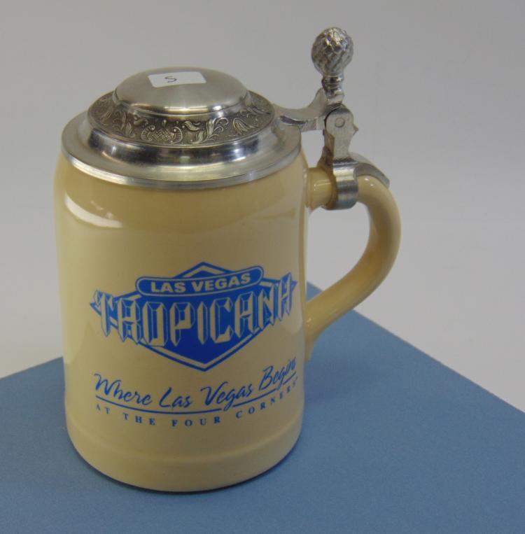 Vintage Las Vegas Tropicana Ceramic Beer Stein