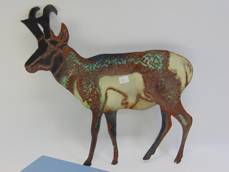 Pronghorn Metal Cut Out Decorative Collectible