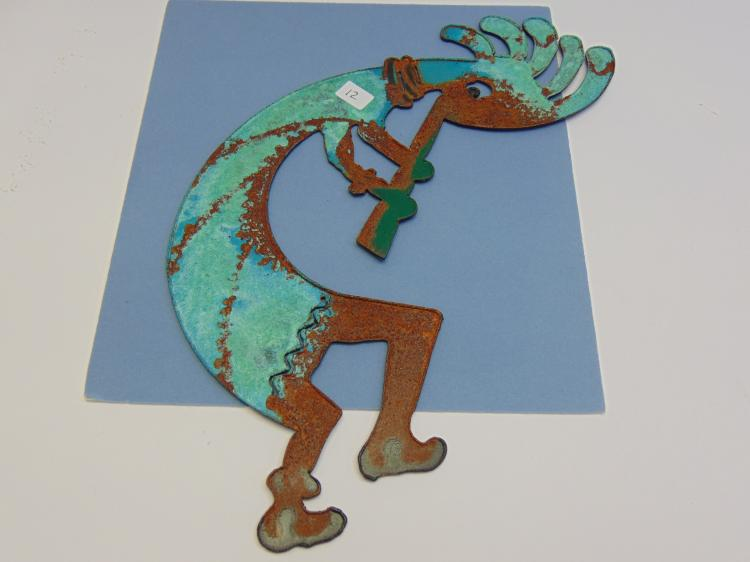 Kokopelli Metal Cut Out Decorative Collectible