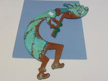 Lot 12: Kokopelli Metal Cut Out Decorative Collectible