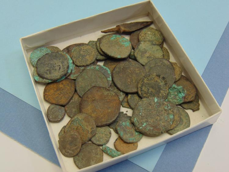 Ancient Dug Up Foreign Mixed Coin Lot