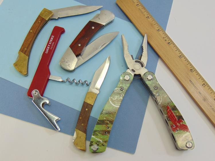 Lot 16: Assorted Folding Pocket Knife Lot Of 5